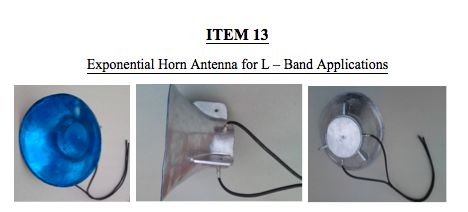 ITEM 13-Exponential Horn Antenna for L – Band Applications