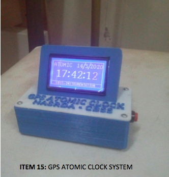 ITEM 15- GPS ATOMIC CLOCK SYSTEM