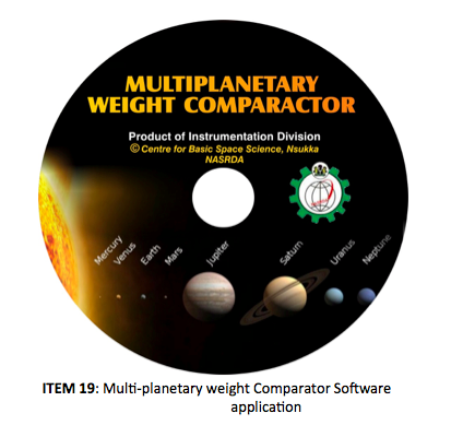 ITEM 19- Multi-planetary weight Comparator Software application