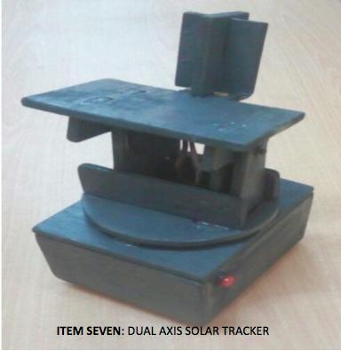 ITEM SEVEN- DUAL AXIS SOLAR TRACKER